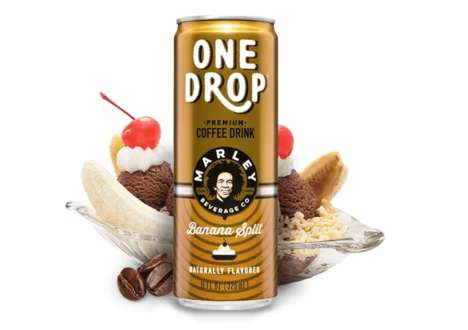 Ice Cream-Inspired Coffee Drinks - Marley Beverages' Coffee in Cans Taste Like Frozen Desserts