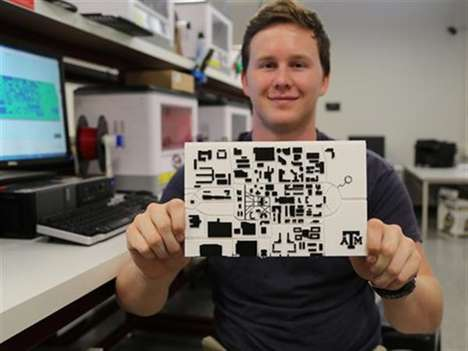 3D-Printed Campus Maps - This Tactile Braille College Map Was Designed for the Visually Impaired