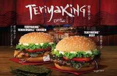 Teriyaki-Inspired Burger Menus - The New TeriyaKing Sandwiches Draw on a Japanese Cooking Technique