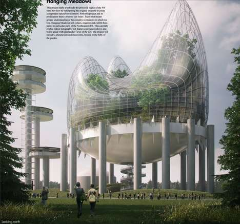Elevated Native Forests - 'Hanging Meadows' Would Reclaim the NY State Pavilion as a Natural Museum