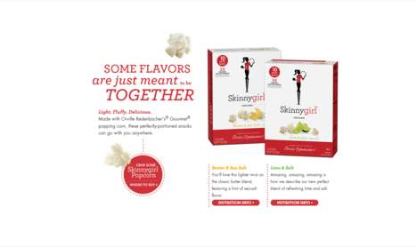 Low-Calorie Popcorn Snacks - The New Skinnygirl Popcorn Range is a Guilt-Free Snack Option