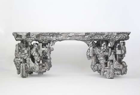 Aluminum Foil Furniture - This Design Collection was Created from Leftover Materials and Foil