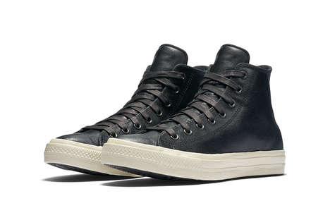 Leather-Coated High Tops