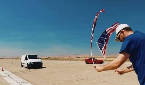 Drag Racing Electric Vans