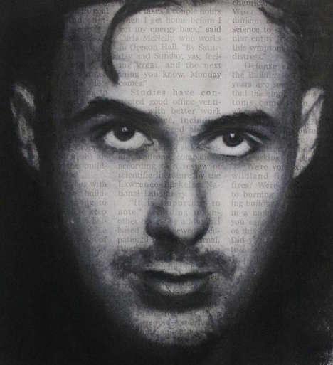Celebrity Newspaper Portraits