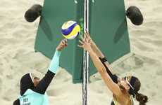 Inclusive Olympic Uniforms - Hijab-Wearing Volleyball Players Demonstrate the New Olympic Standard