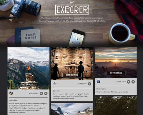 Social Tourism Sites - British Columbia's 'BC Explorer' Site Collects #ExploreBC Instagram Posts
