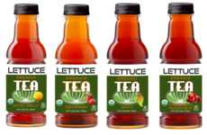 Lettuce-Based Tea Beverages - 'Lettuce Organic Teas' Combine Black Tea and Vegetable Juice