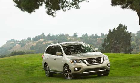 Refreshed Crossover SUVs - The New Nissan Pathfinder Features Redesigned Exterior Elements