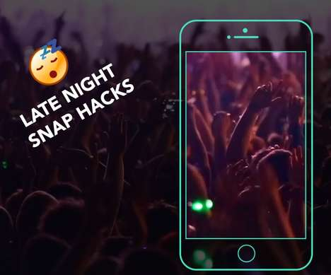 Novelty Social Media Scenes - 'Late Night Snap Hacks' Makes it Look Like Users are at the Club