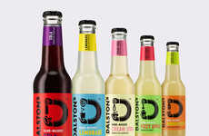 Monochromatic Craft Soda Bottles - These Craft Sodas Fuse Unique Flavors and Minimalist Packaging