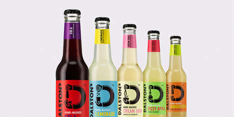 Monochromatic Craft Soda Bottles
