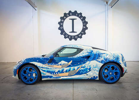 Oceanic Luxury Car Designs - 'Garage Italia Customs' Designed a Wave-Inspired Alfa Romeo 4C