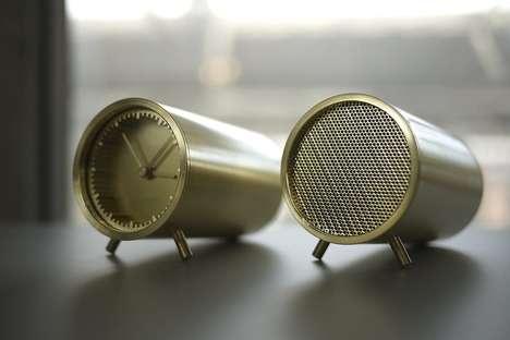 Tubular Timepiece Speakers