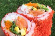 Spicy Sushi Burritos - The Low-Key Poke Joint Offers These Epic Hot Cheeto-Rolled Sushi Wraps