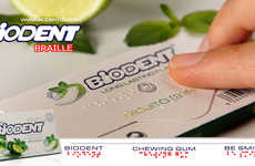 Braille Chewing Gum Packaging - The Packaging for Biodent's Mojito Gum Features Braille Writing