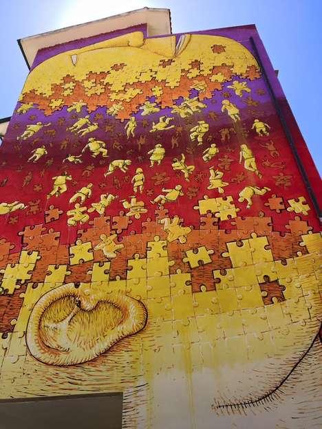 Human Puzzle Street Art