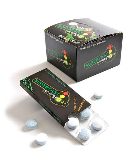 Energizing Chewing Gums - Superfast Energy Gum Provides Consumers with a Quick Burst of Energy