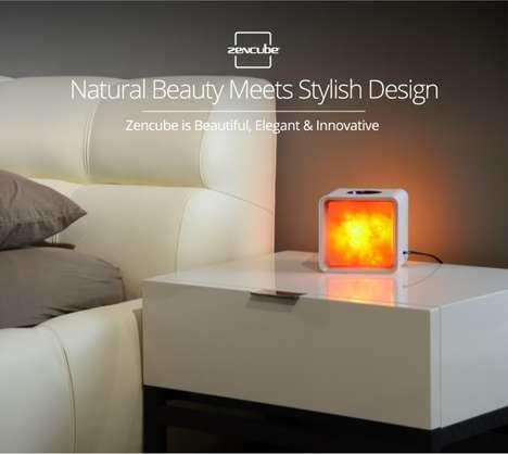 App-Connected Salt Lamps