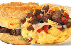 Steak-Stuffed Breakfast Sandwiches - These Meaty Breakfast Sandwiches are a Hearty Meal Option