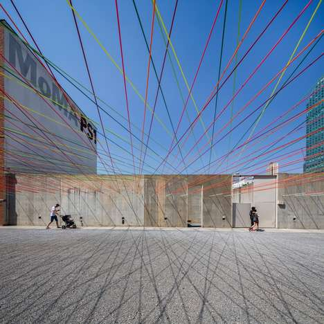 Colorfully Woven Overhead Art