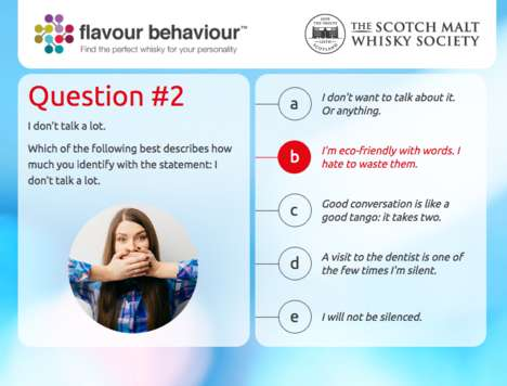Whisky Personality Quizzes - The 'Flavour Behaviour Test' Helps People Find the Perfect Drink