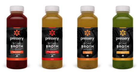 Bone Broth Juices - Pressery's Bone Broths are Mixed with Fruit and Vegetable Juices
