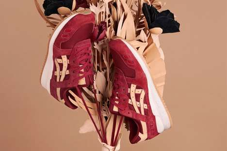 Gel-Bottomed Suede Sneakers