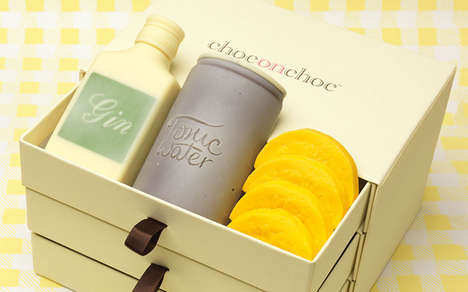 Edible Cocktail Sets - The Choc on Choc Gin and Tonic Kit is Made Entirely From Chocolate