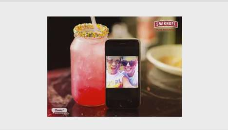 Selfie-Inspired Cocktails - Smirnoff Mixed Up Creative Cocktails Based on People's Selfies