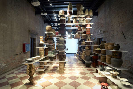 Floating Kitchen Installations - This Art Installation is Built Upon Pots and Plates