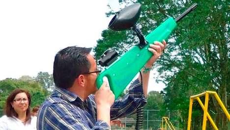 Herbicide-Launching Guns