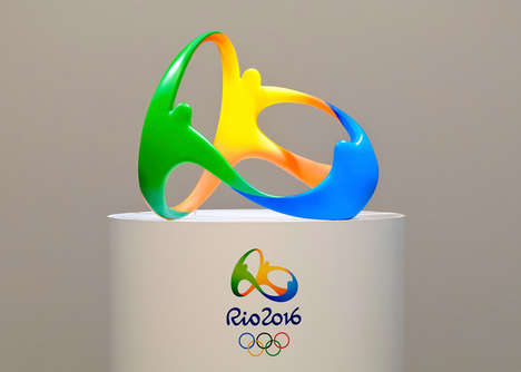 3D Olympic Logos - Rio De Janeiro's Summer Games Logo is the First 3D Design in Olympic History