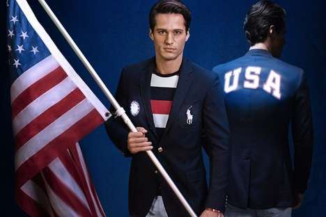25 Olympic Apparel Designs - From Patriotic Clothing Collections to Olympic-Inspired Watch Bands