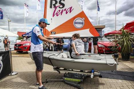 Kid-Friendly Sailing Simulators - Volvo Rigged a RS Tera Dinghy to Teach Valuable Sailing Skills