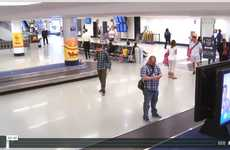 Fast Food Luggage Ads - Bojangles Gave Travelers Full Meals on Airport Luggage Conveyor Belts