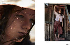 Moody Rural Photoshoots - The Ones 2 Watch 'Spring Beauty' Story Highlights Comfortable Apparel