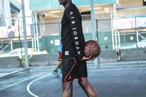 Stylized Basketball Apparel Editorials