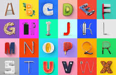 Artistic Object Typography - The '36 Days of Type' Project Makes a New Letter Out of Random Items