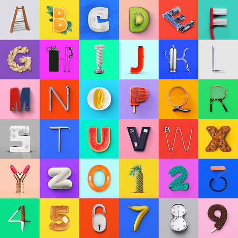 Artistic Object Typography