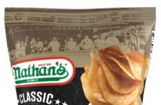 Hot Dog-Flavored Chips - Nathan's Famous Created Potato Chips Inspired by Its Iconic Hot Dogs