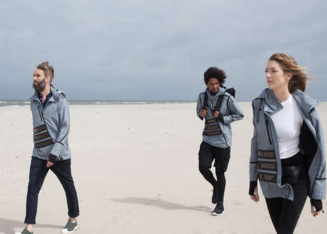 Solar Energy Windbreakers - The 'Solar Windbreaker' can Charge Devices for Hikers