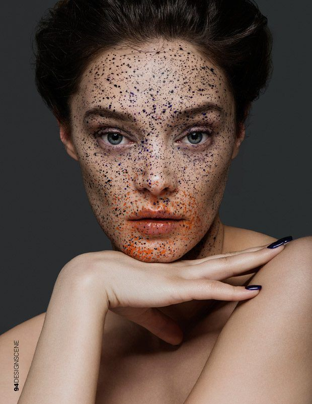 Dotted Makeup Portraits