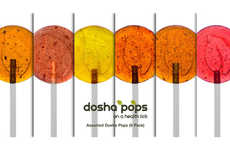 Ayurvedic Herbal Lollipops - The New Dosha Pops Flavors Deliver the Health Benefits of Herbal Tea