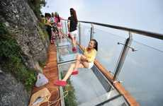 Transparent Cliffside Walkways