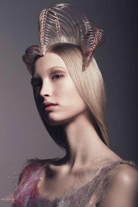 Sculptural Hair Portraits