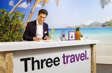 Telecom Travel Pop-Ups - Three Mobile Offered Free Trips to People with Winning Stories