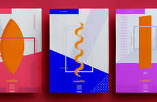 Abstract Pasta Branding - This Branding Abandons Traditional Pasta Packaging Ideals
