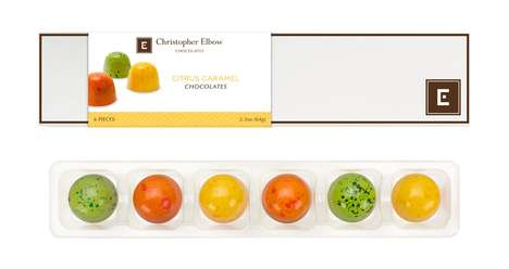 Caramel Citrus Chocolates - Christopher Elbow's Caramel Chocolates are Infused with Zesty Flavor