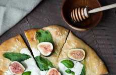 Sweet Fruit Pizzas - This Fig and Bruatta Pizza Contrasts Sweet and Savory Flavors